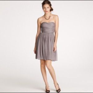 J. Crew chiffon silk strapless dress size P0 NEW
